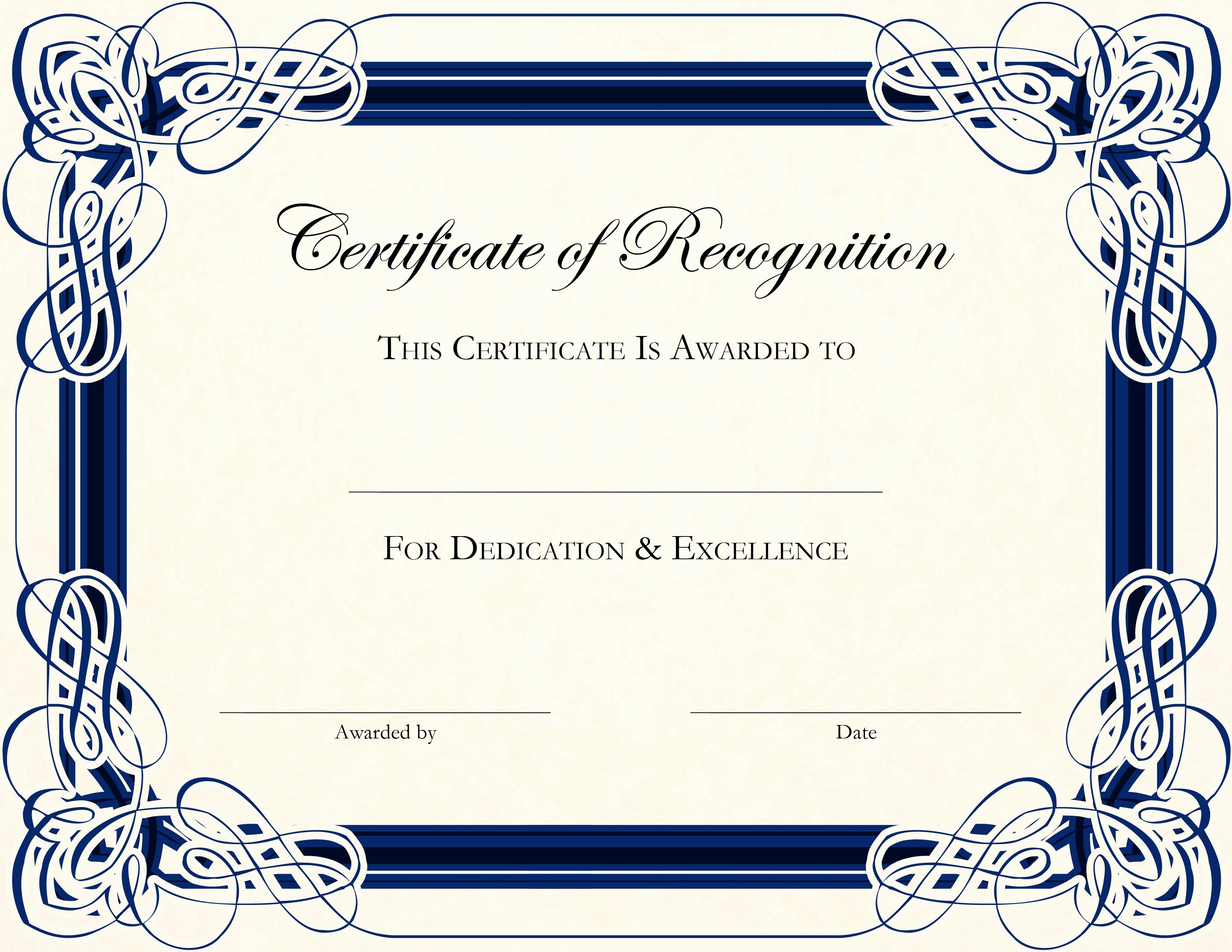 Blank Award Certificates to Print Lovely Free Printable Award Templates