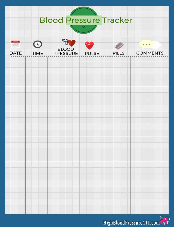 Blank Blood Pressure Tracking Chart Elegant Blood Pressure Tracker Printable