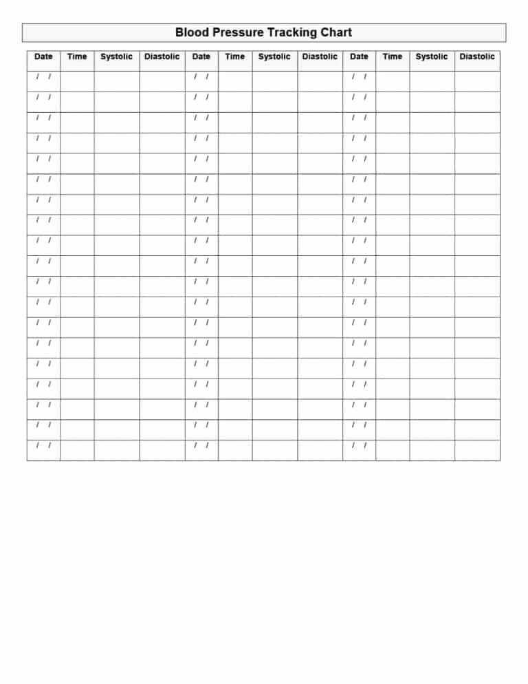 Blank Blood Pressure Tracking Chart Lovely Daily Blood Pressure Chart Gecce Tackletarts