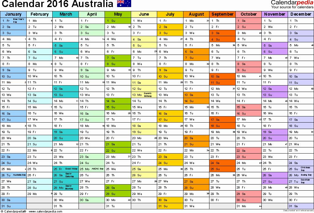 Blank Calendar 2016-17 Beautiful Australia Calendar 2016 Free Printable Pdf Templates