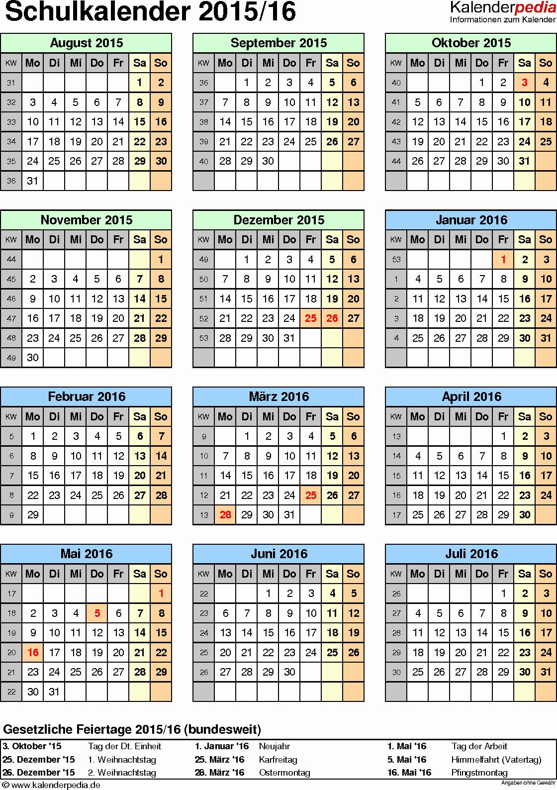 Blank Calendar 2016-17 Beautiful Schulkalender 2015 2016 Als Pdf Vorlagen Zum Ausdrucken