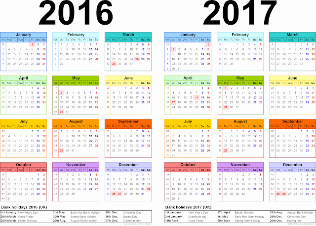 Blank Calendar 2016-17 Beautiful Two Year Printable Calendars for 2016 17