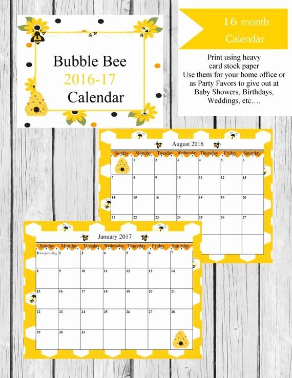 Blank Calendar 2016-17 Fresh 2016 17 Calendar Printable Calendar 2016 Printable Calendar