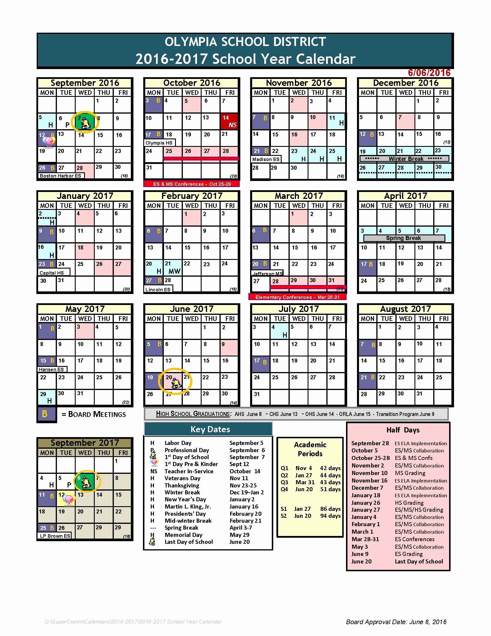 Blank Calendar 2016-17 Inspirational 2016 17 Calendar is Online