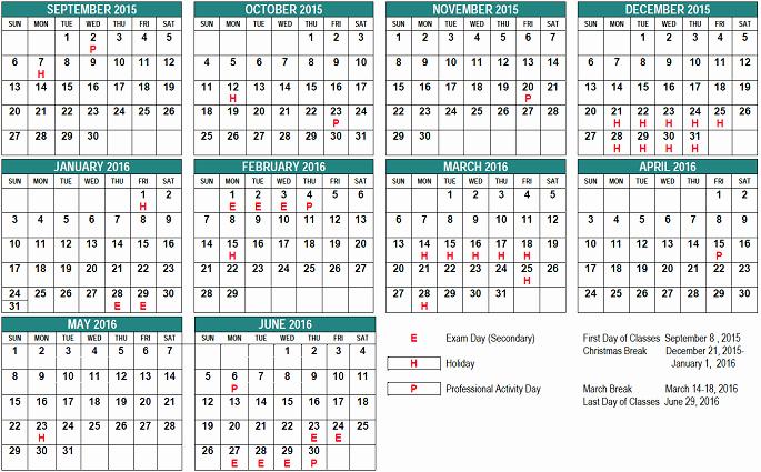 Blank Calendar 2016-17 Lovely School Year Calendar St Clair Cds Board