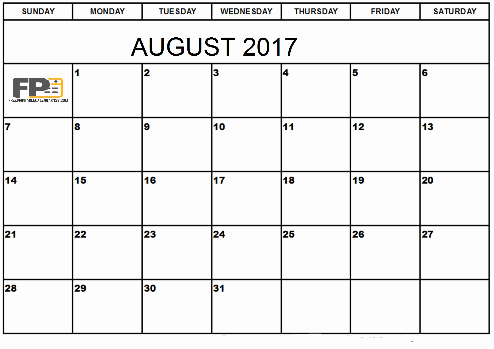 Blank Calendar Template August 2017 Elegant August 2017 Calendar Word