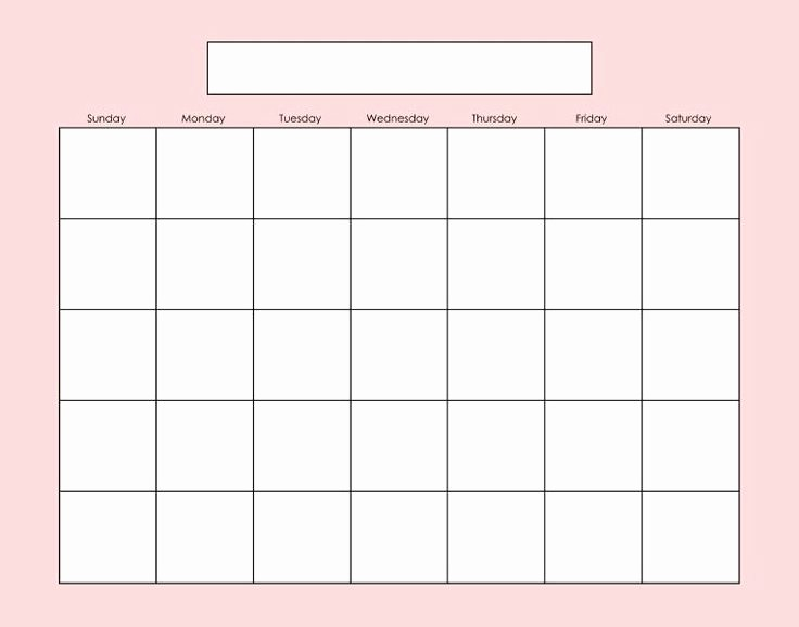 Blank Calendar to Fill In Awesome Blank Calendar Page Fill as Needed