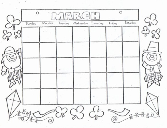 Blank Calendar to Fill In Awesome Kat S Almost Purrfect Home Free Blank Calendars to Color