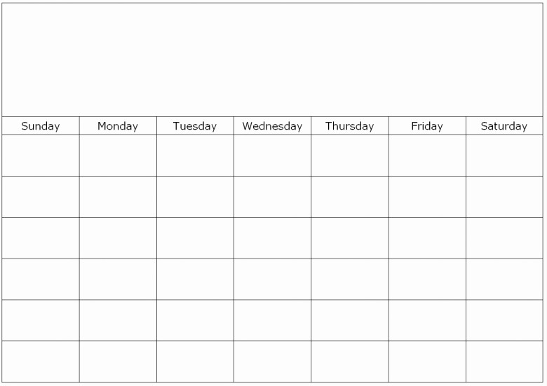 Blank Calendar to Fill In Beautiful to Fill In Blank Calendar Free Calendar Template