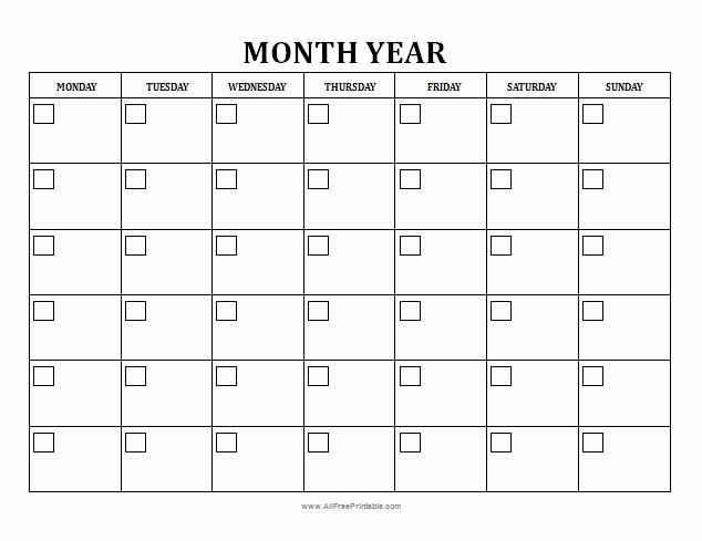 Blank Calendar to Fill In Best Of Free Fill In Monthly Calendar Free Calendar Template