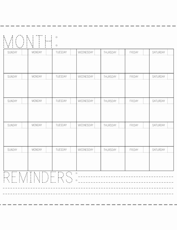 Blank Calendar to Fill In Best Of Printable Calendar Fill In the Blank