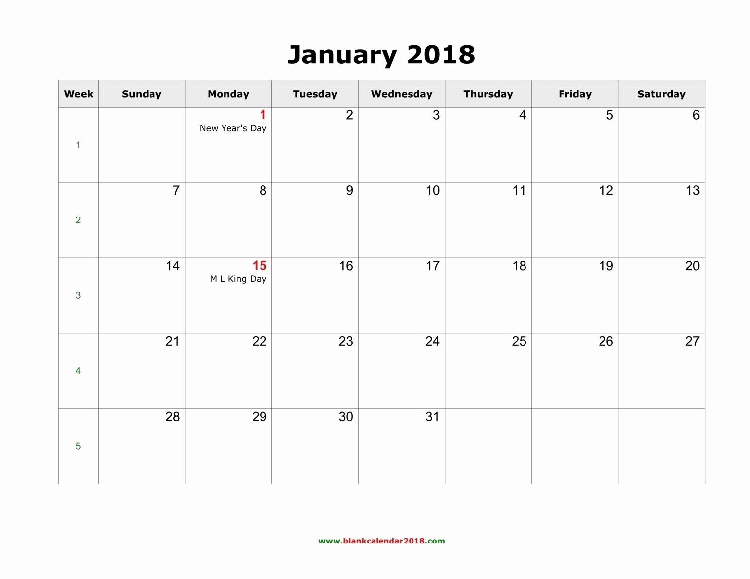 Blank Calendar to Fill In Elegant 2018 Fill In Printable Calendars – Calendar Printable
