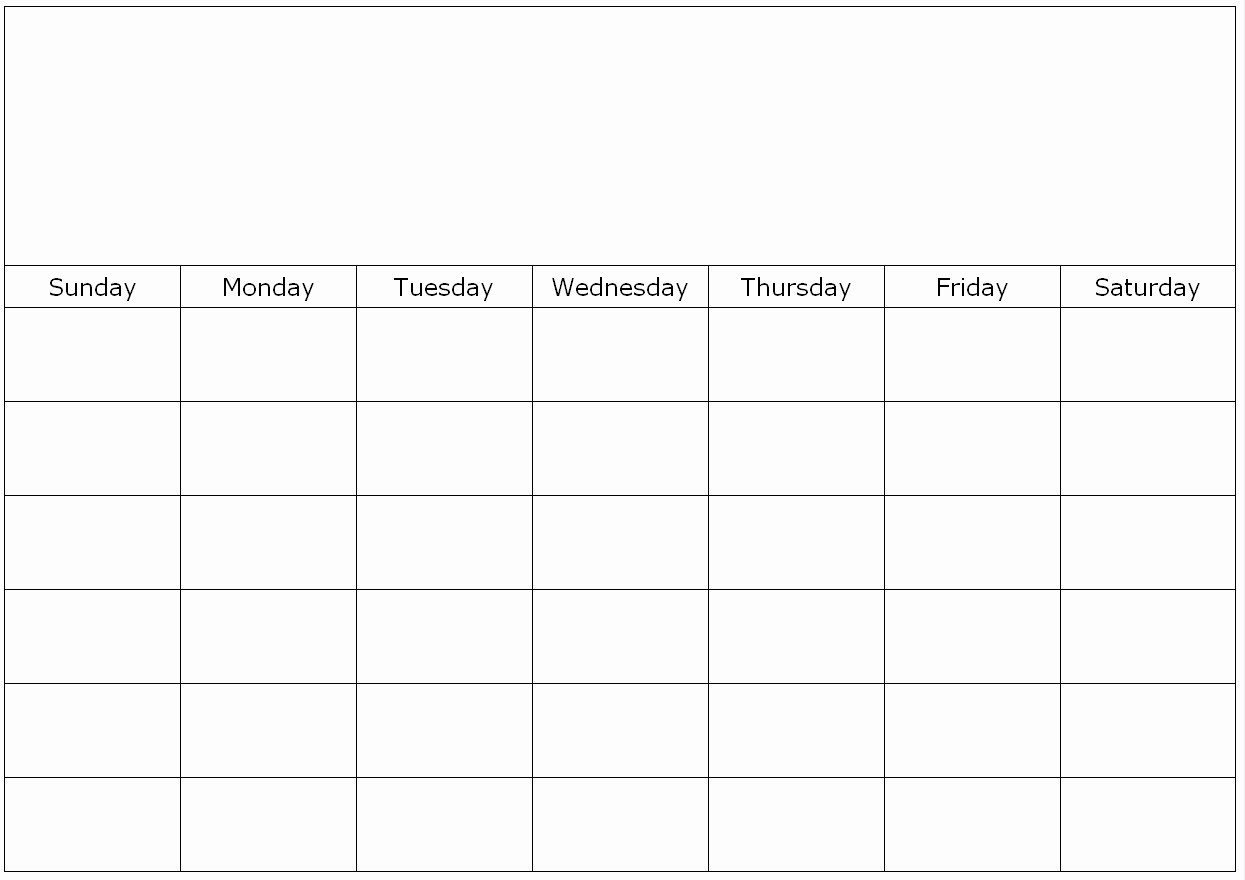 Blank Calendar to Fill In Elegant Monthly Blank Calendar Page