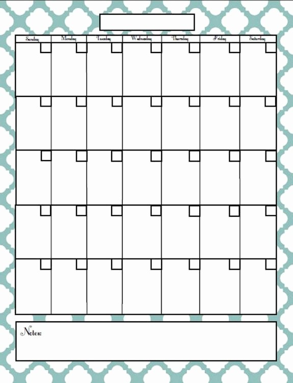Blank Calendar to Fill In Fresh Best Free Printable Fill In Calendar