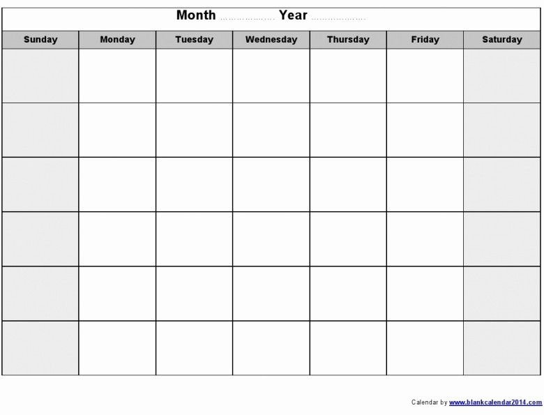 Blank Calendar to Fill In Fresh Fill In Printable Monthly Calendar Free Calendar Template