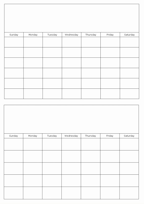 template for calendar by month