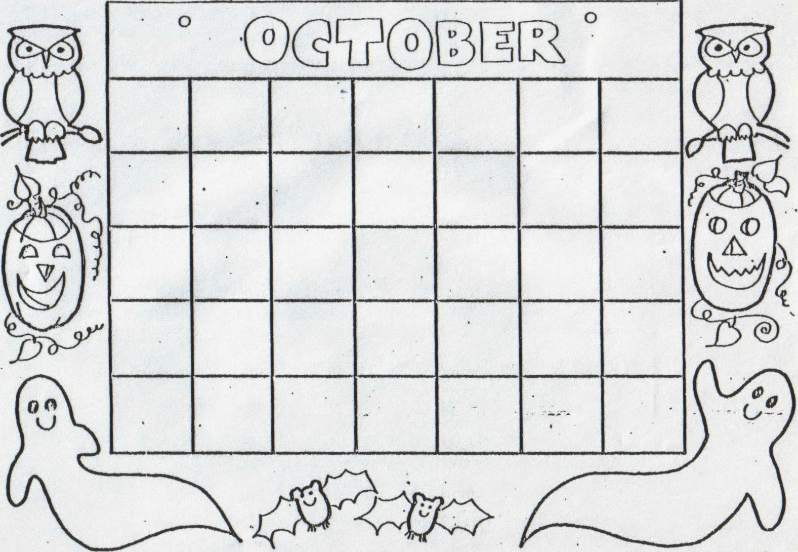 Blank Calendar to Fill In Inspirational Kat S Almost Purrfect Home Free Blank Calendars to Color