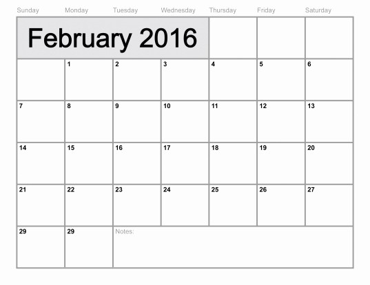 Blank Calendar to Fill In Inspirational Monthly 2016 Calendars to Print and Fill Out