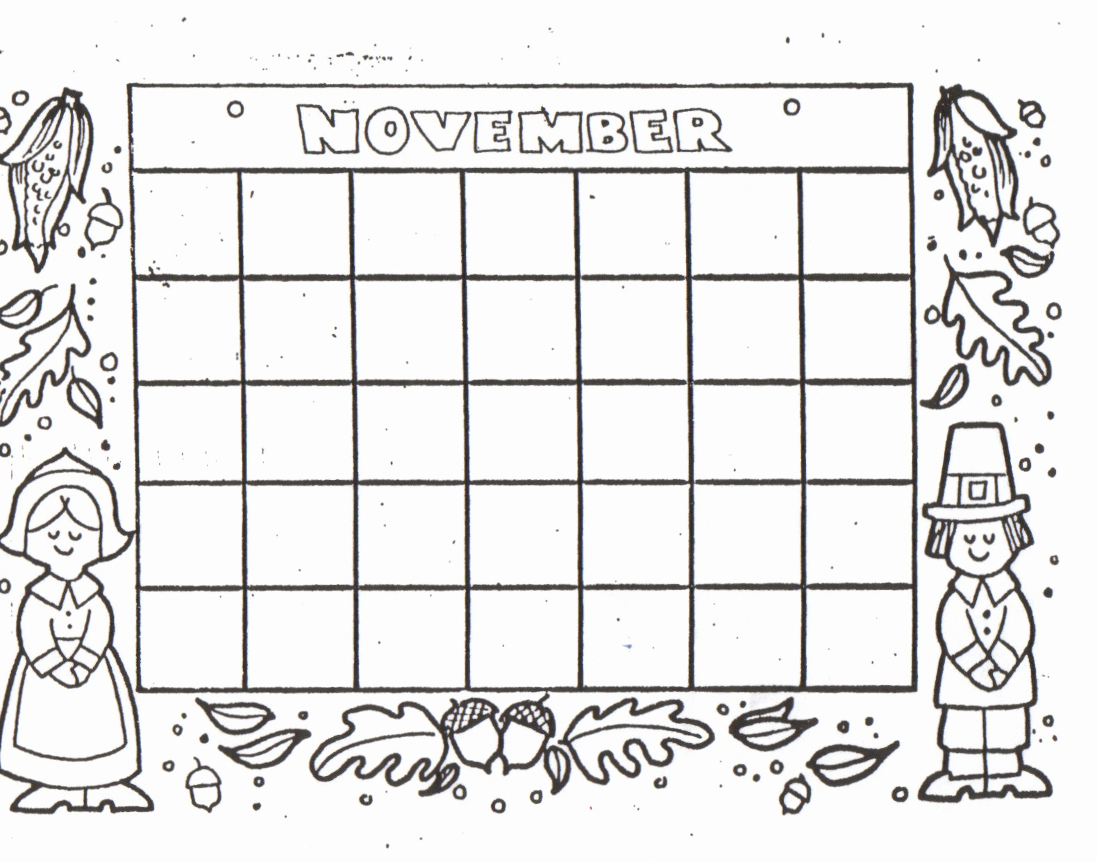 Blank Calendar to Fill In Lovely Kat S Almost Purrfect Home Free Blank Calendars to Color