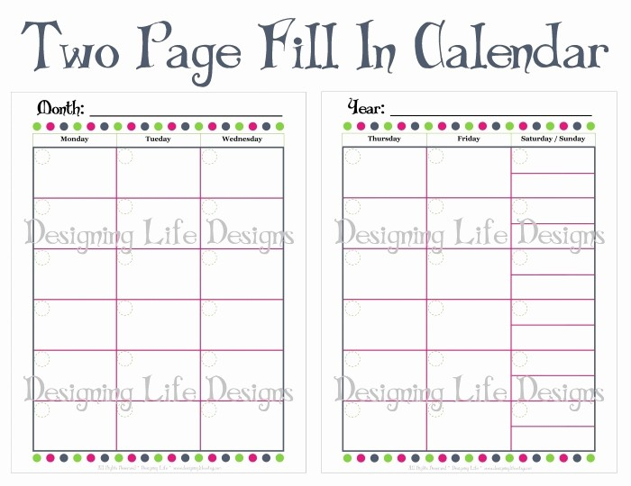 Blank Calendar to Fill In Lovely Monthly Calendar to Print and Fill Out