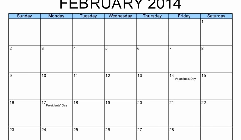 Blank Calendar to Fill In Luxury Fill In the Blank Calendar 2014 2018 Calendar Template