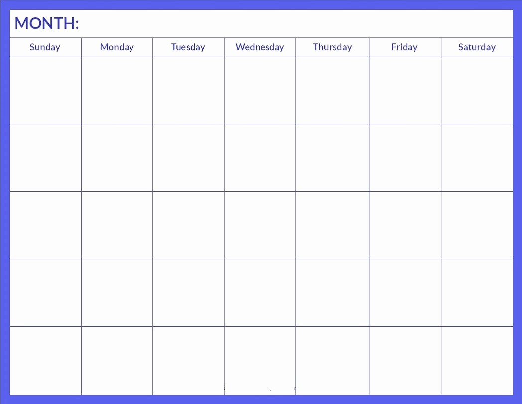 Blank Calendar to Type On Awesome Printable Blank Calendar Pages