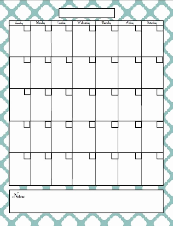 Blank Calendar to Type On Beautiful Blank Monthly Calendar that I Can Type Information From