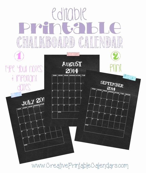 Blank Calendar to Type On Elegant Free Printable 2017 Chalkboard Calendar Its In Word