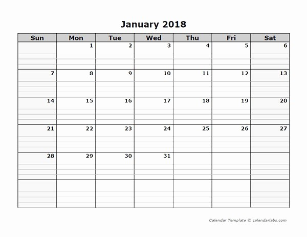 Blank Calendar to Type On Fresh Intentionally Blank Page with Free Blank Page to