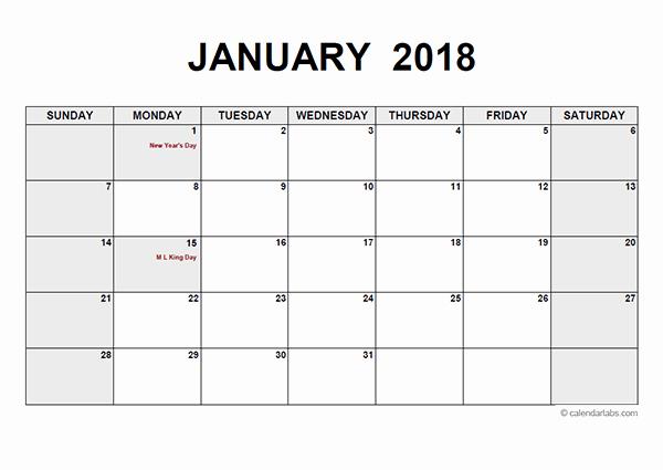 Blank Calendar to Type On Inspirational 2018 Calendar Pdf