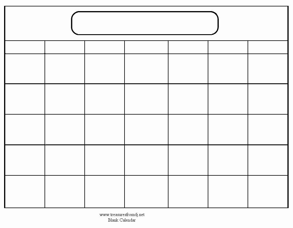 Blank Calendar to Type On Luxury Blank Calendar Template when Printing Choose Landscape