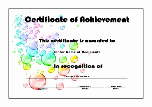 Blank Certificate Of Achievement Template Awesome Certificates Of Achievements