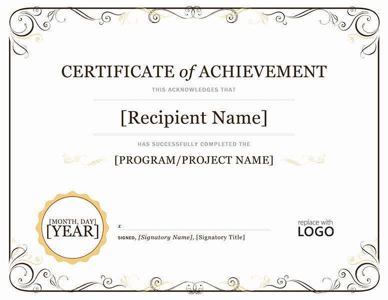 Blank Certificate Of Achievement Template Fresh Blank Certificates