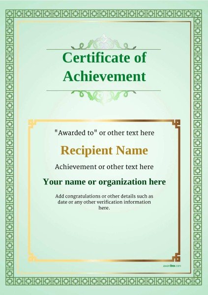 Blank Certificate Of Achievement Template Fresh Certificate Of Achievement Free Templates Easy to Use