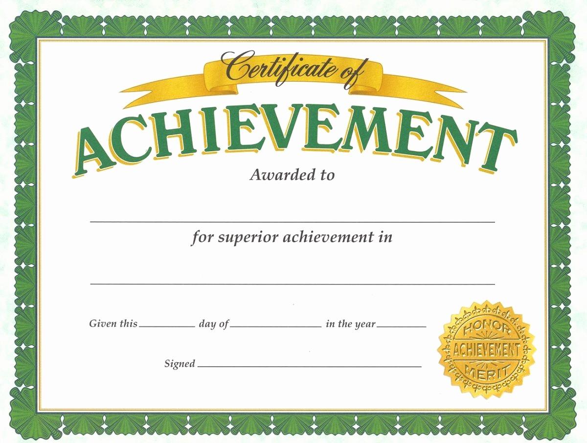 Blank Certificate Of Achievement Template Fresh soccer Award Certificates Template Kiddo Shelter