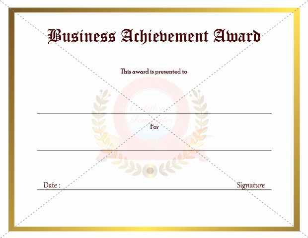 Blank Certificate Of Achievement Template Lovely 5 New Certificate Award Templates