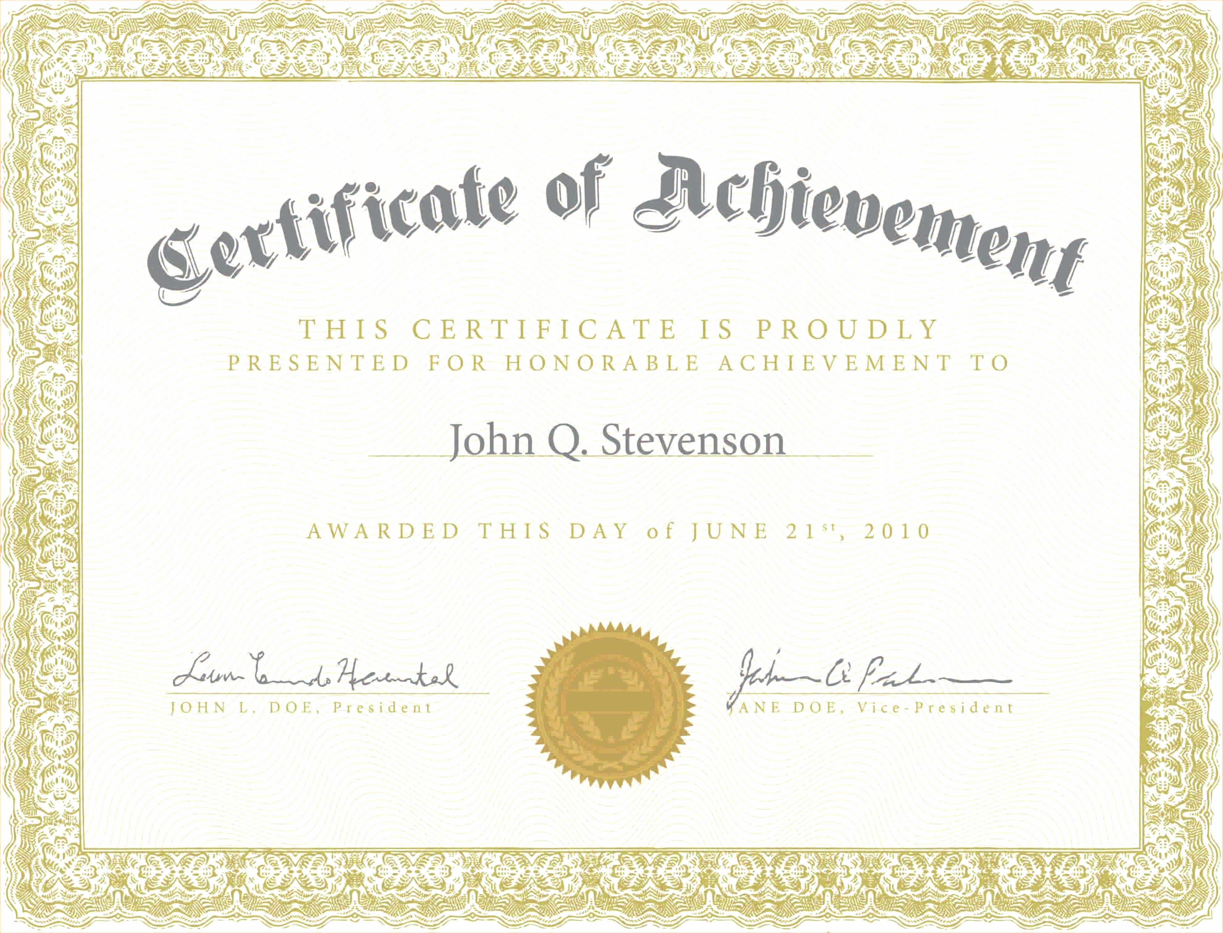 Blank Certificate Of Achievement Template Lovely Army Certificate Achievement Template Example Mughals
