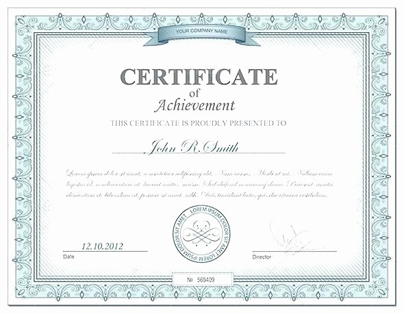 Blank Certificate Of Achievement Template Lovely Certificate Liability Club Insurance Blank form
