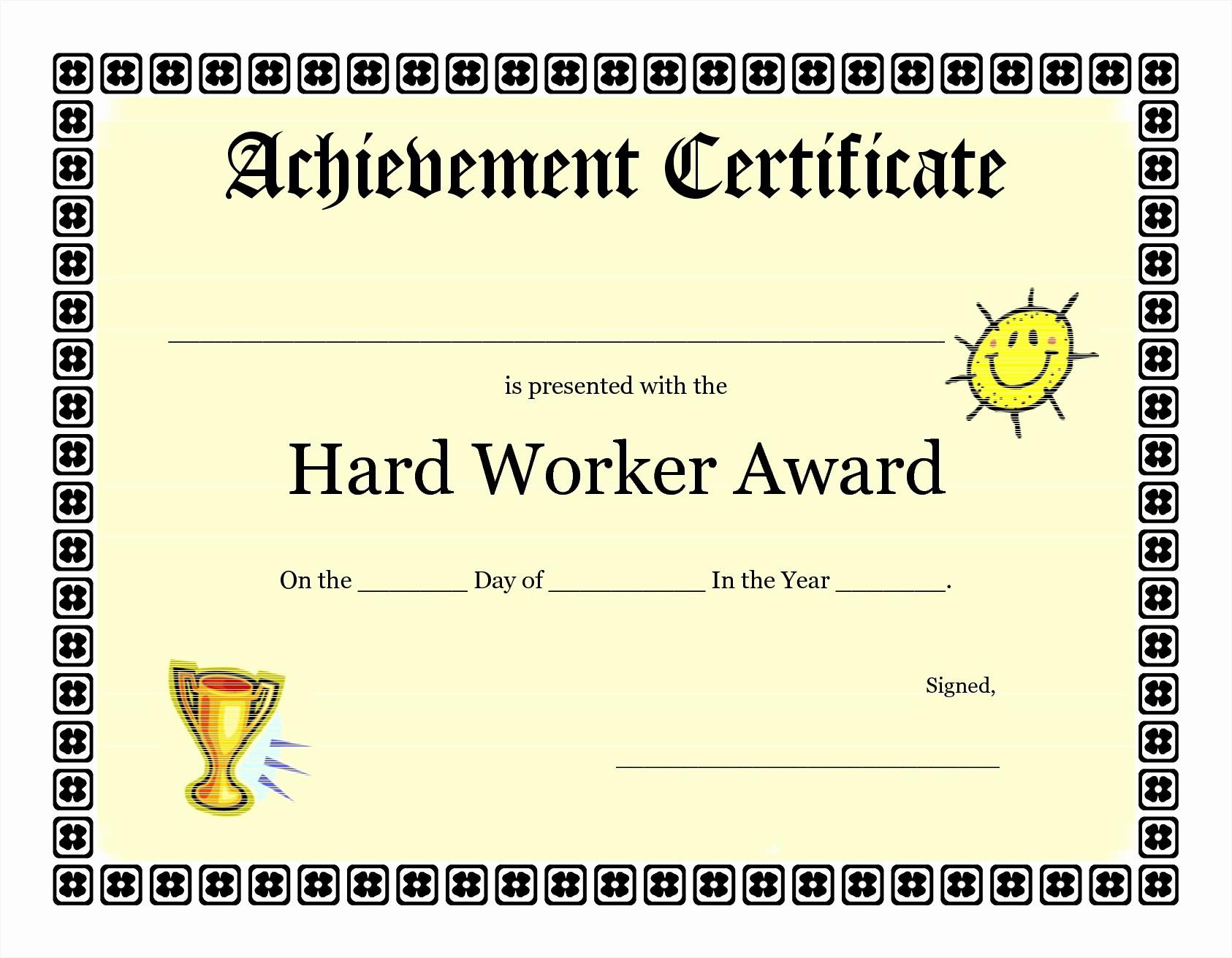 Blank Certificate Of Achievement Template Luxury Achievement Certificate Templates Free Mughals