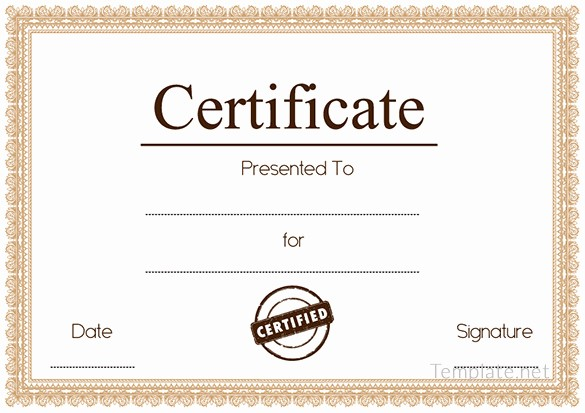 Blank Certificate Of Achievement Template Luxury Free Certificate Template – 65 Adobe Illustrator