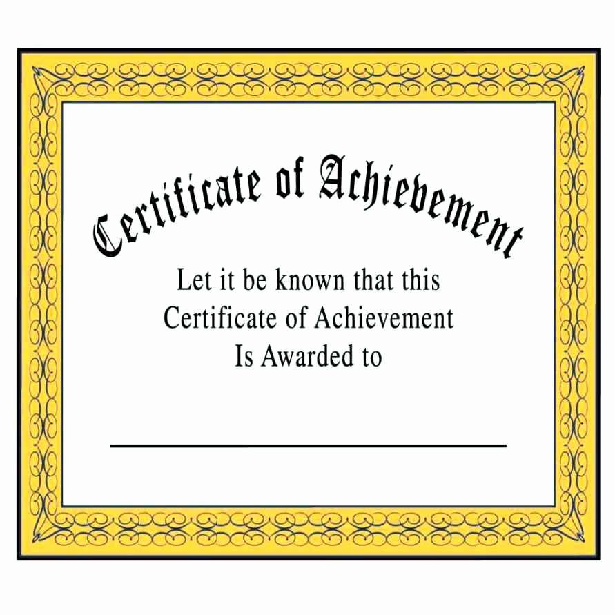 Blank Certificate Of Achievement Template New Blank Certificate Achievement Template Update234