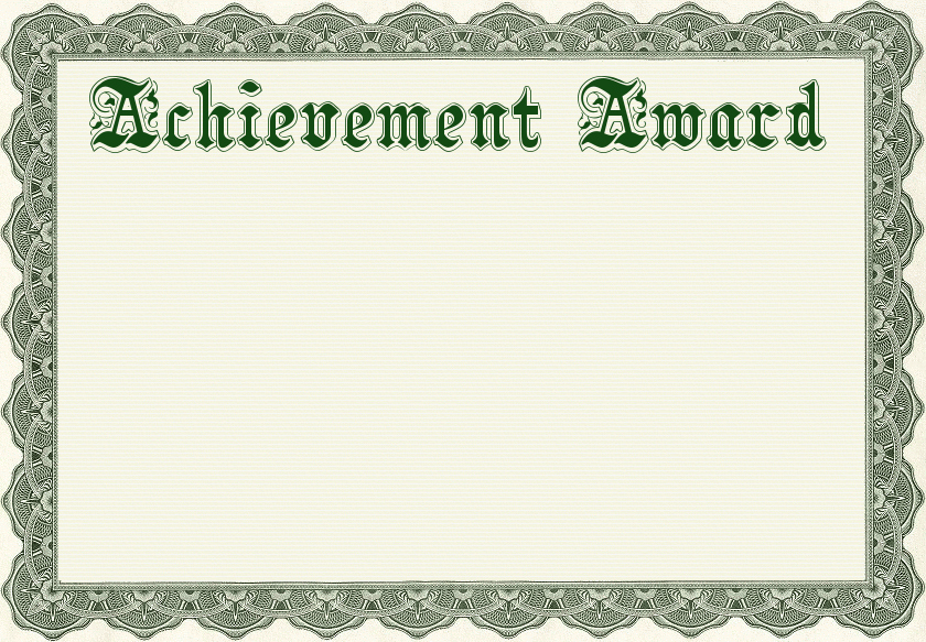 Blank Certificate Of Achievement Template Unique Free Certificate Clipart 1 Page Of Free to Use Images