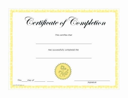 Blank Certificate Of Completion Template Awesome First Aid Certificate Printable Babysitting Templates