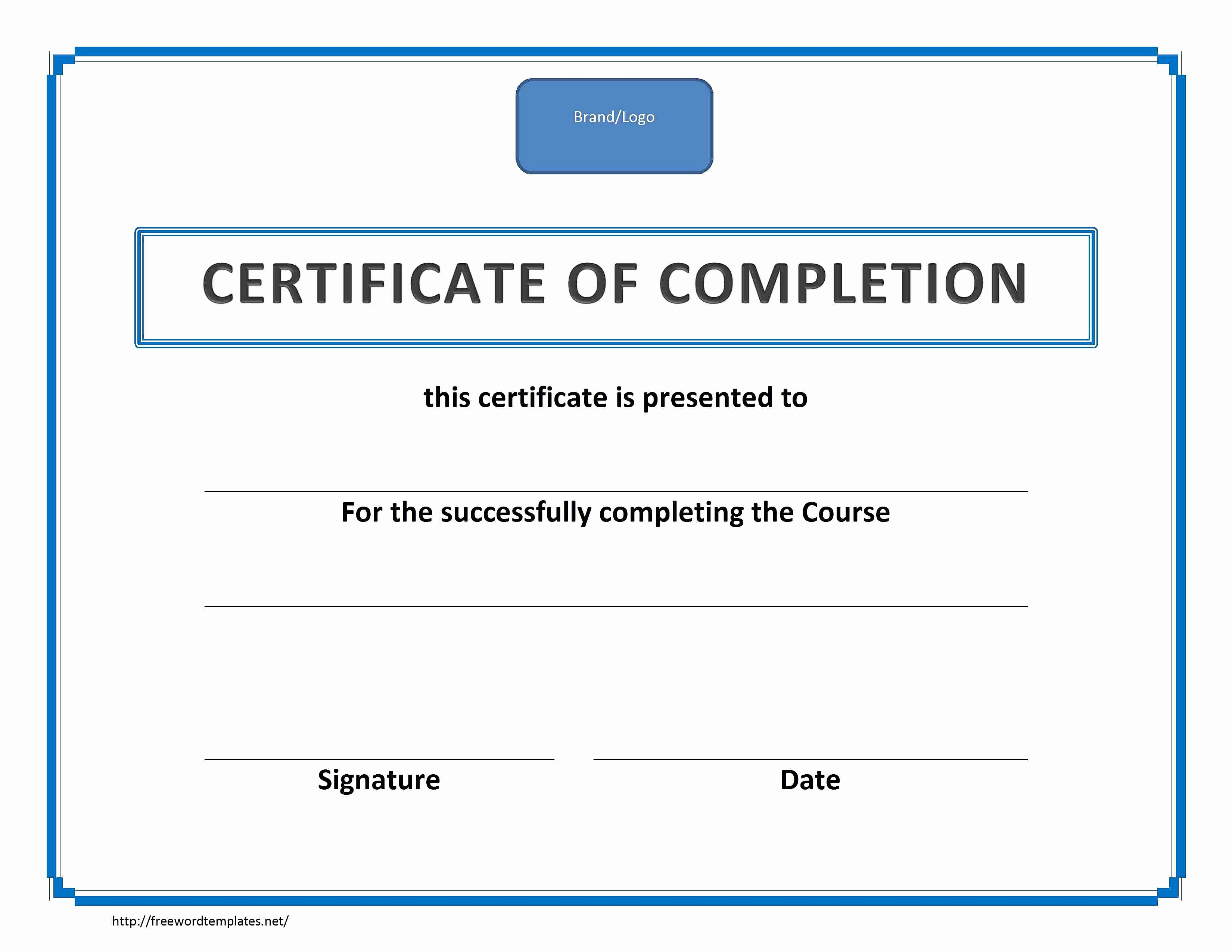 Blank Certificate Of Completion Template Fresh Blank Certificates Pletion Mughals