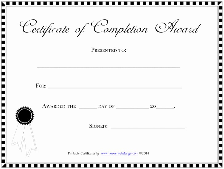 Blank Certificate Of Completion Template Lovely 20 Pletion Certificate Template Free Download