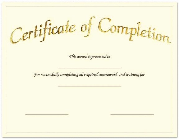 Blank Certificate Of Completion Template Luxury Blank Certificates