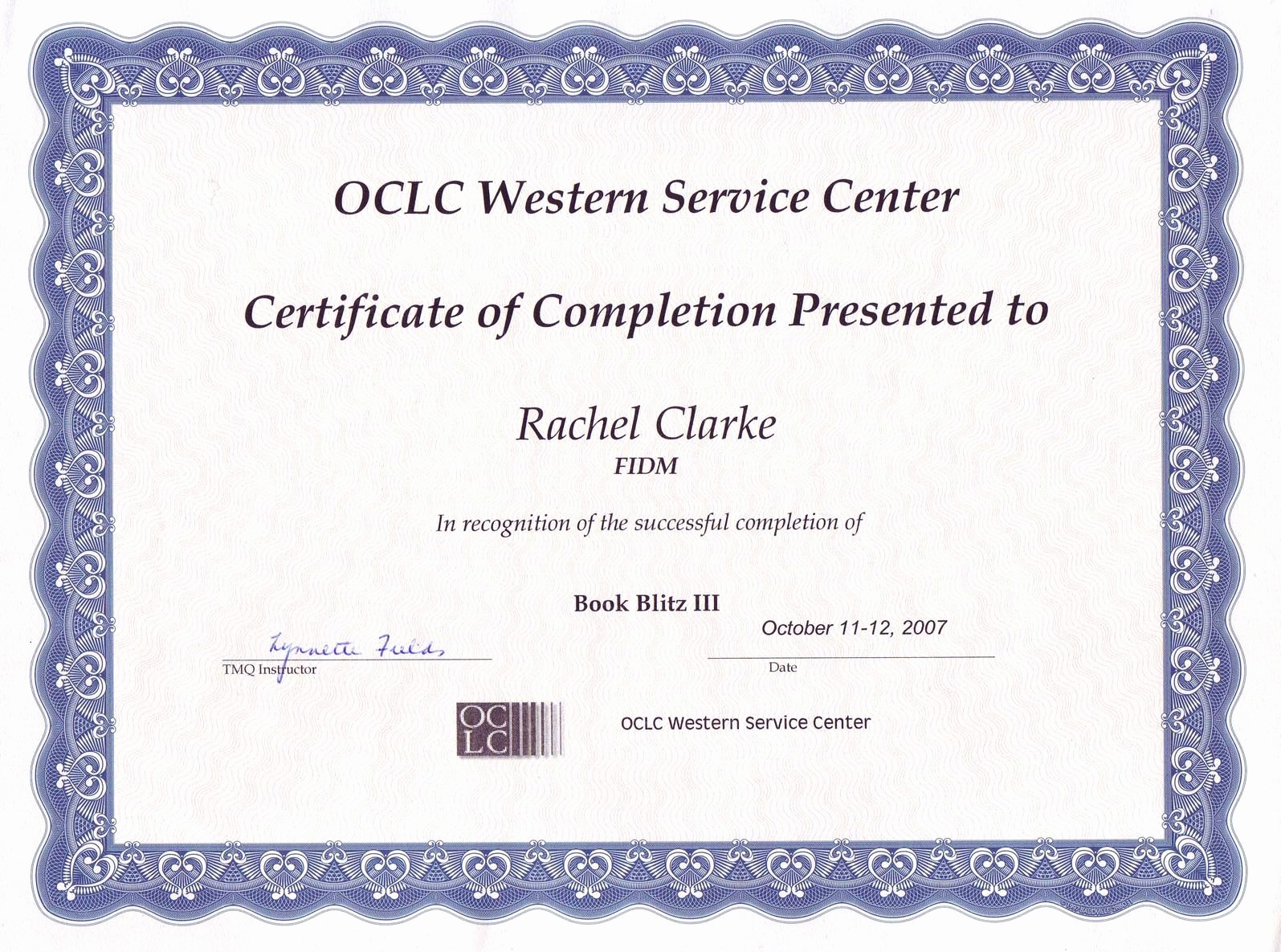 Blank Certificate Of Completion Template New 13 Certificate Pletion Templates Excel Pdf formats