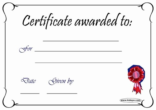 Blank Certificate Of Completion Template New Blank Certificates