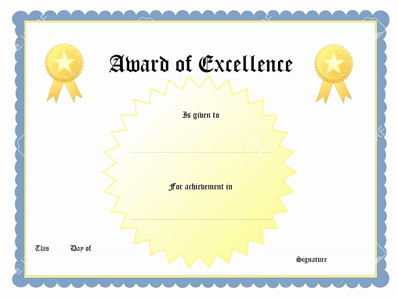 Blank Certificate Templates for Word Awesome Template Award Certificate Template Word