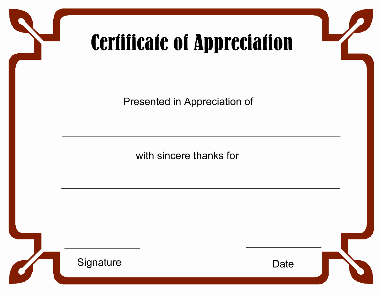 Blank Certificate Templates for Word Elegant Blank Certificate Templates to Print